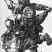 Dancing Peasants 1514 - Albrecht Durer Art Print