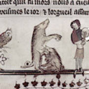 Dancing Pig, 14th Century Art Print