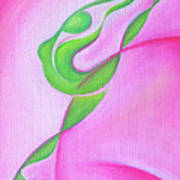 Dancing Sprite In Pink And Green Print by Tiffany Davis-Rustam