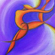 Dancing Sprite In Purple And Orange Art Print by Tiffany Davis-Rustam