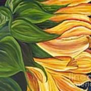 Dancing Sunflower Art Print
