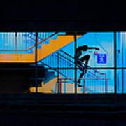 Dancing To Floor G Night People Art Print