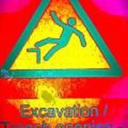 Danger Of Falling Art Print