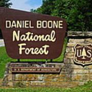 Daniel Boone Art Print by Frozen in Time Fine Art Photography