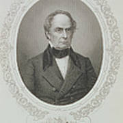 Daniel Webster, From The History Of The United States, Vol. II, By Charles Mackay, Engraved By T Art Print