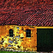 Danish Barn Impasto Version Art Print by Steve Harrington