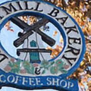 Danish Mill Bakery In Solvang California Art Print