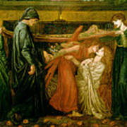 Dantes Dream At The Time Of The Death Of Beatrice 1856 Art Print