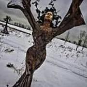 Daphene Sculpture On A Winter Day Art Print