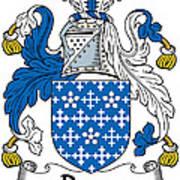 Darcy Coat Of Arms II Irish Art Print