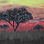 Dark Africa Art Print