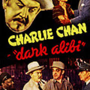 Dark Alibi, Top Left Sidney Toler Art Print