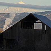 Dark Barn And Mt Mclaughlin Art Print