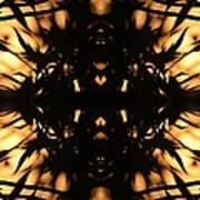 Dark Flame Of Nature Art Print