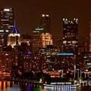 Dark Pittsburgh Skyline Art Print