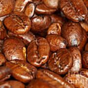 Dark Roasted Coffee Beans Art Print