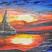 Dark Sail Art Print