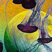Dark Side Of The Moon 5d24939 Painterly M111 Long Art Print