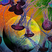 Dark Side Of The Moon 5d24939 Painterly M56 Art Print
