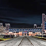 Dark Skies At Citizens Bank Park Art Print by Bill Cannon
