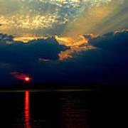 Cloudy Sunset Art Print