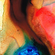 Dark Swan - Abstract Art By Sharon Cummings Print by Sharon Cummings