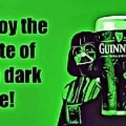 Darth Drinks Guinness Art Print