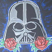 Darth Vader Tattoo Art Art Print by Gary Niles
