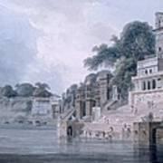 Dasasvamedha Ghat, Benares, Uttar Art Print
