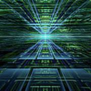 Data Pathways Art Print
