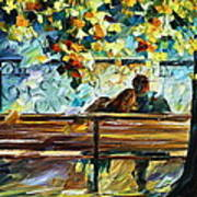 Date On The Bench Art Print