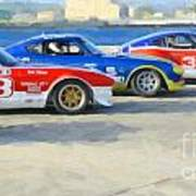 Datsun Z Racers At Sebring Art Print