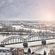 Daugava Railway Bridge Art Print