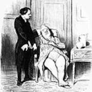 Daumier: Doctor Cartoon Art Print