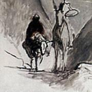 Daumier: Don Quixote Art Print