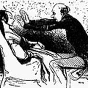 Daumier: The Hypnotist Art Print