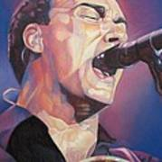 Dave Matthews Colorful Full Band Series Art Print by Joshua Morton