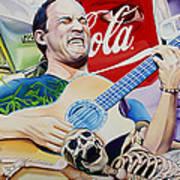 Dave Matthews Seek Up Art Print by Joshua Morton