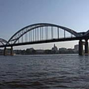 Davenport Skyline And Centennial Bridge Art Print