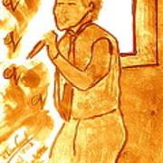 David Archuletta Gold Art Print