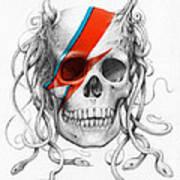 David Bowie Aladdin Sane Medusa Skull Art Print