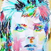 David Bowie - Watercolor Portrait.6 Art Print