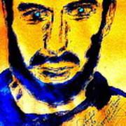 David Copperfield Illusionist Gold 2 Art Print