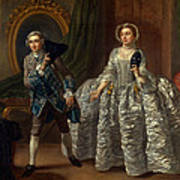 David Garrick And Mrs. Pritchard In Benjamin Hoadley's The Suspicious Husband  Art Print