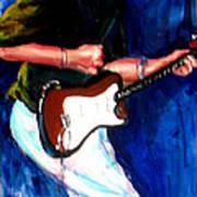 David On Guitar Art Print