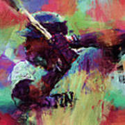 David Ortiz Abstract Art Print