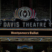 David Theatre Neon - Montgomery Alabama Art Print