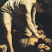 David Victorious Over Goliath Art Print by Michelangelo Merisi da Caravaggio
