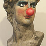 David With Makeup And Clown Nose 1 Art Print
