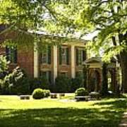 Davidson College Old Well And Philanthropic Hall Art Print